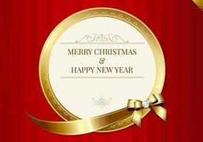 Vecteur de carte de Joyeux Noël luxueux