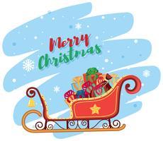 Joyeux Noel en traineau vecteur