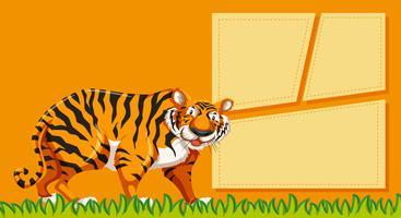 Tigre sur le modèle de note