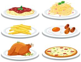 Ensemble de repas différents vecteur