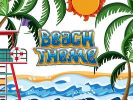 Scène d'élément de thème de plage