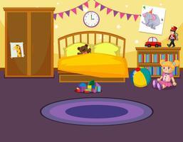 Intérieur de la chambre des enfants vecteur