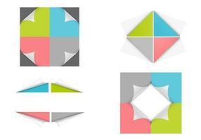 Ensemble vectoriel Corner Curled