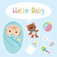 Conception de l'affiche pour bébé vecteur
