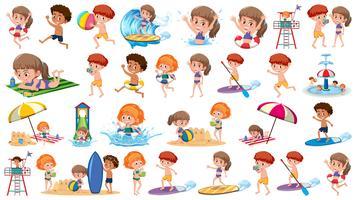 Ensemble de vacances enfants
