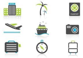 Paquet vectoriel d'icônes de voyage