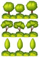 Ensemble de lignes d'arbres