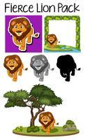 Un pack de lion mignon