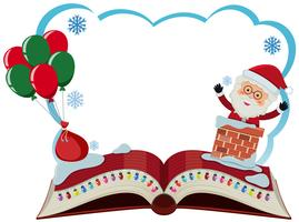 Modèle de frontière avec le père Noël et des ballons