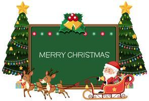 Joyeux Noël Blackboard card vecteur