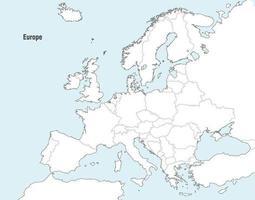 Cartes vectorielles d'Europe vecteur