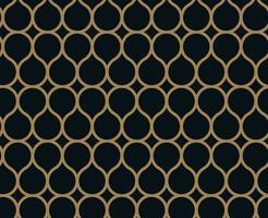 Motif linéaire sans couture avec croisement de lignes courbes avec col en or vecteur