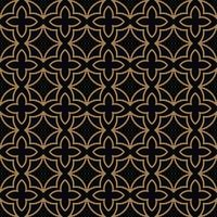 Modèle sans couture abstraite. Ornement de lignes géométriques en or. Ornamen vecteur