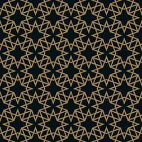 Modèle de carreaux géométriques modernes de vecteur. forme rayée dorée. Abstr
