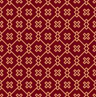 Ornement vectorielle continue. Motif linéaire géométrique élégant moderne avec couleur dorée vecteur
