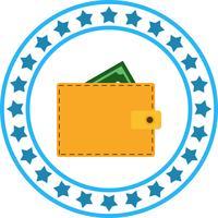 Icône de portefeuille de vecteur