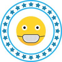 Icône Emoji de masque médical de vecteur