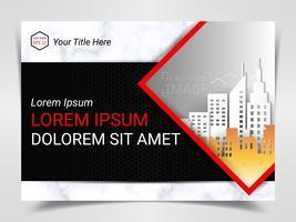 Modèle de publicité prête à imprimer, format A4 pour la présentation marketing de la société.