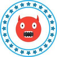 Icône de Emoji en colère de vecteur