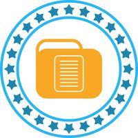 Icône de dossier de document de vecteur