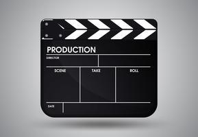 Ardoise du film de réalisateur. Illustration Vecteur EPS10.
