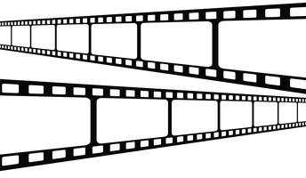 Collection de bandes de film. Vector isoler sur fond blanc.