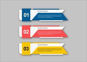 Bannières de présentation créative vecteur concept coloré