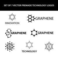 Ensemble d'éléments graphiques vectoriels graphène vecteur