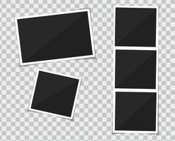 Ensemble de vecteurs de cadre photo modèle. isoler sur fond transparent. vecteur