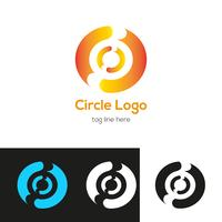 Modèle de conception de logo de cercle vecteur