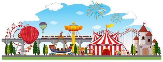 Une scène de cirque vecteur