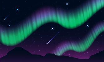 aurores, aurores polaires, aurores boréales ou australes est un écran de lumière naturelle dans le ciel de la Terre, vecteur