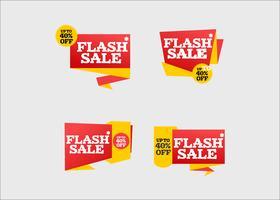 Collection de rubans de magasinage vente flash créative moderne vecteur