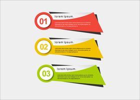 Bannières de présentation colorée créative vecteur moderne