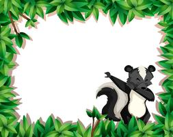 Skunk au bord de la nature vecteur