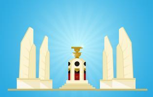 mocracy Monument Représentants des prochaines élections en Thaïlande vecteur