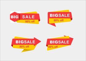 Rubans de promotion de vecteur de shopping créatif minimal