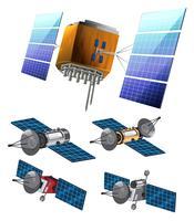 Ensemble de satellite vecteur