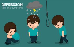 Les hommes présentant des symptômes bipolaires ou une dépression et devraient consulter un psychiatre vecteur