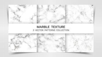 Arrière-plans et textures de marbre Premium Set Patterns Collection Template. vecteur