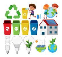 Ensemble d'élément de recyclage vecteur