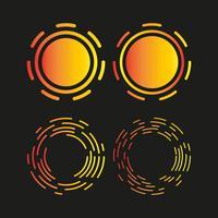 Logo de cercle, modèle de conception d'icône vecteur