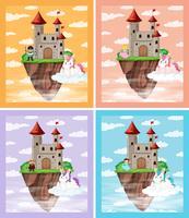 Ensemble de château médiéval vecteur