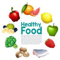 Un modèle alimentaire sain vecteur