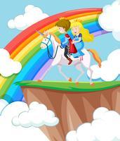 Princesse et prince à cheval