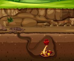 Serpent dans une grotte souterraine