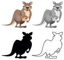 Ensemble de personnage de kangourou
