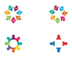 icône de vecteur de soins communautaires logo template