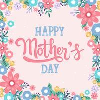 Heureuse fête des mères main lettrage de vecteur Calligraphie lettrage - vecteur