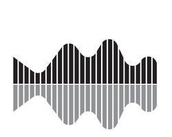 Illustration de l'onde sonore - vecteur